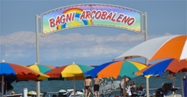 Web cam sottomarina bagni arcobaleno